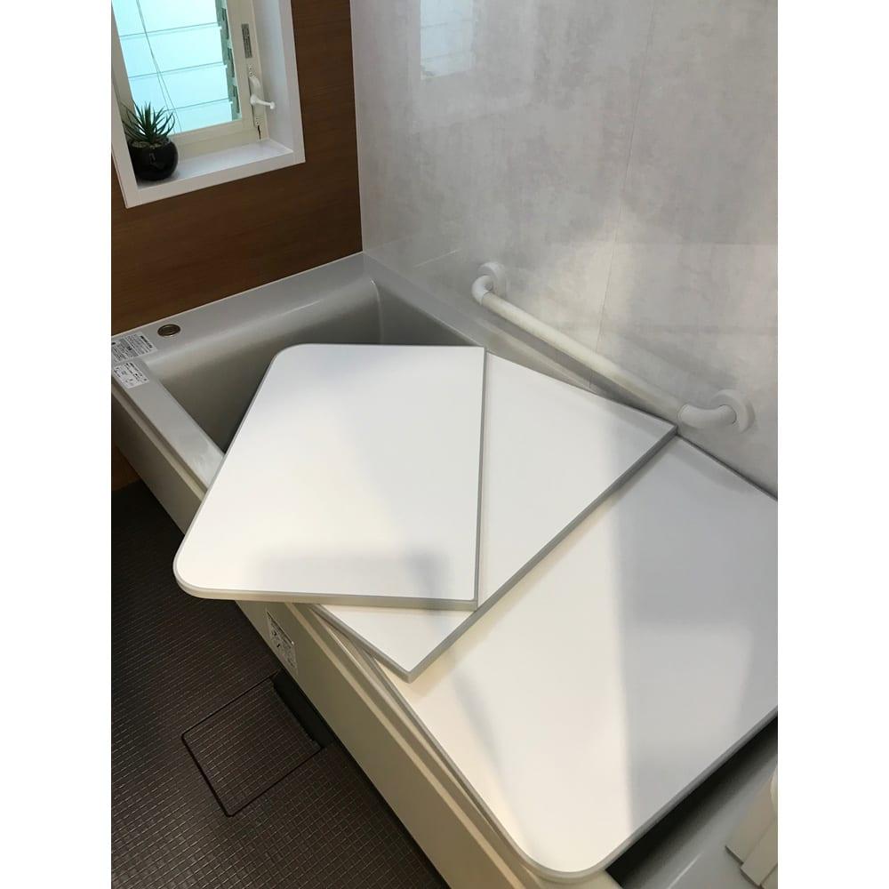 73×138cm(冷めにくい風呂ふたNEO) ベージュ/グレー