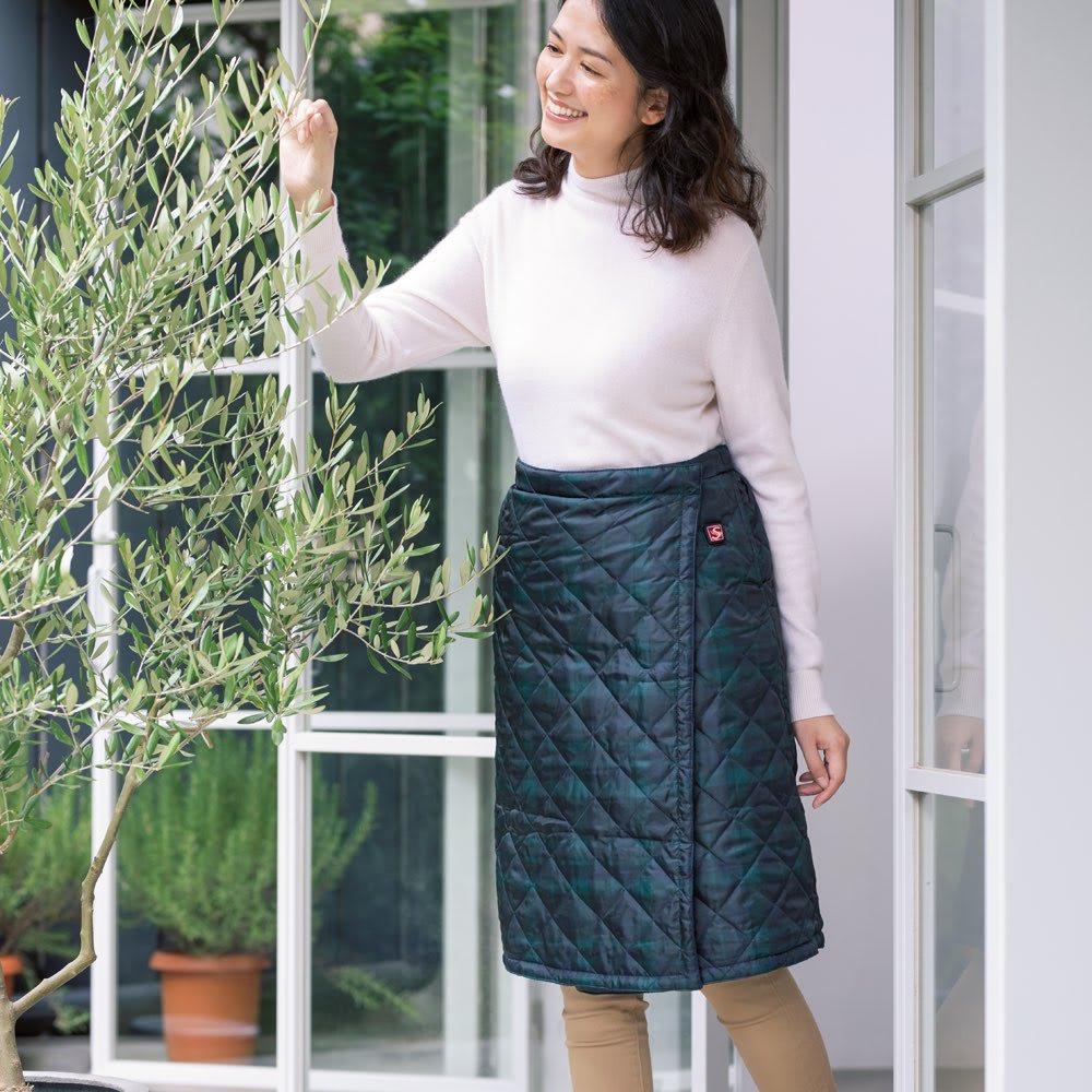 ベッド 寝具 布団 毛布 「着るこたつ」スカートシリーズ スカート2枚組(ブランケットにもなるスカート+ショートスカート)(バッテリー&充電器各1個) 525405