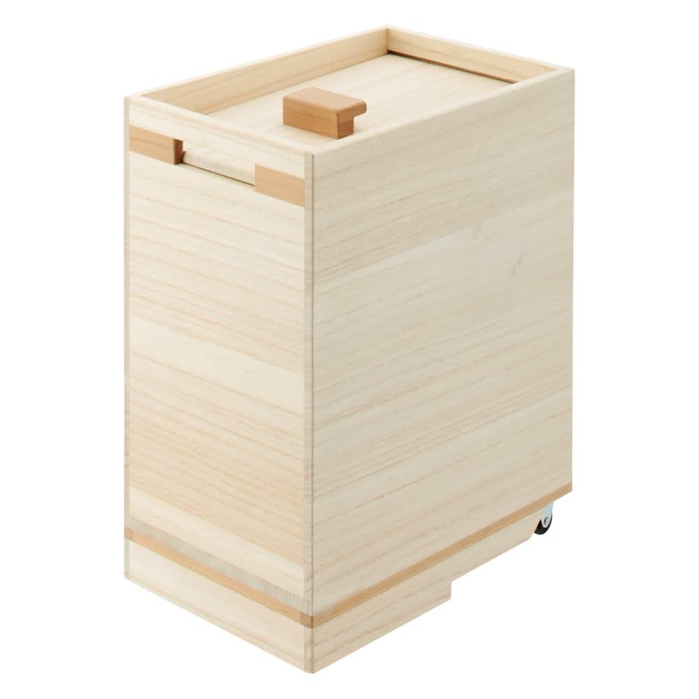 桐の米びつ&野菜ストッカー キャスター付き 米びつ10kgキャスター付き 525814