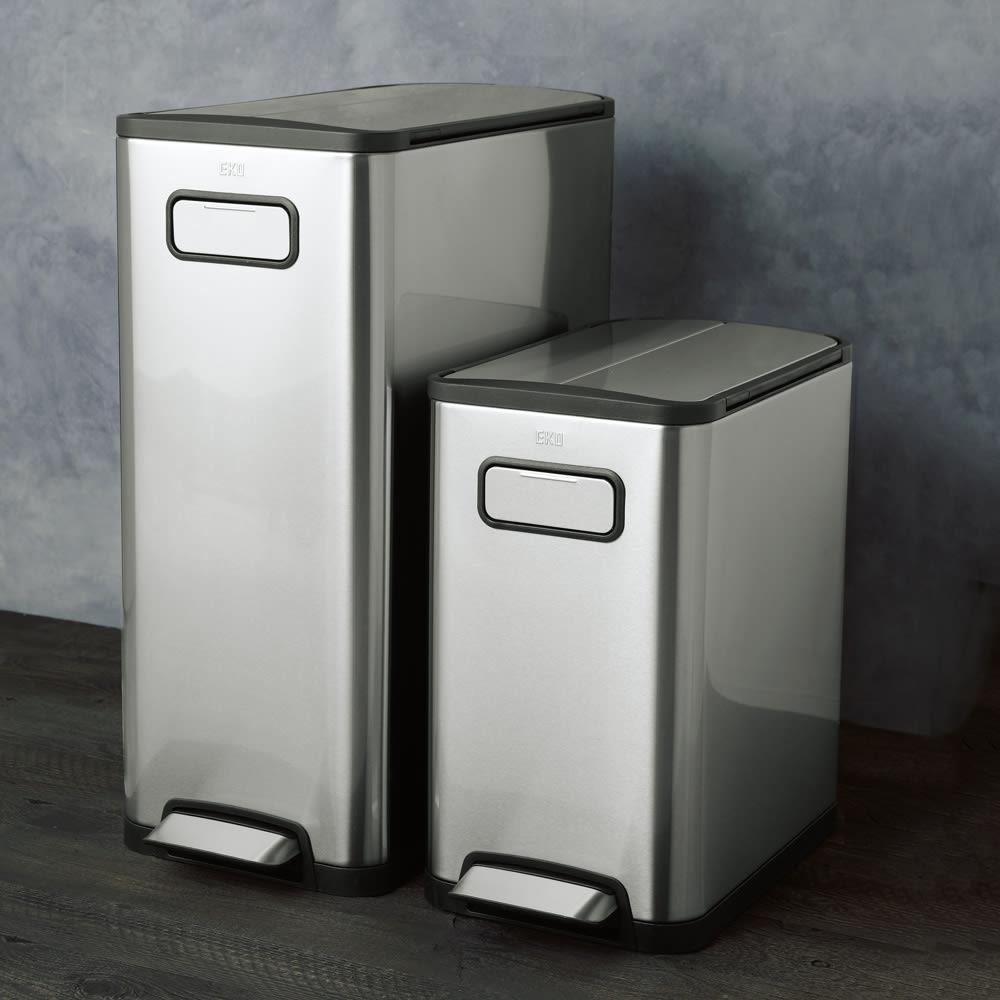 インテリア雑貨 日用品 掃除用品 ゴミ箱 キッチン用ゴミ箱 EKOステップビン たて型 ステンレス 20L 525911