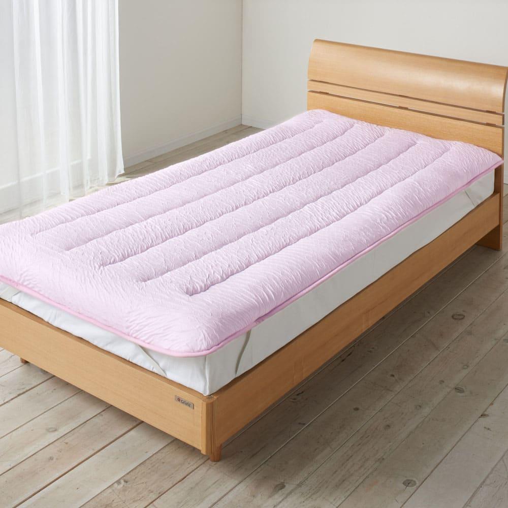 ベッド 寝具 布団 毛布 ベッドパッド 敷きパッド セミダブル(とろふわモダールシリーズ 敷きパッド) 526110