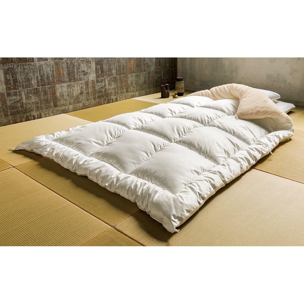 日本の伝統技術×最新素材から生まれた真綿布団のような贅沢感 殿様ふとん 掛け布団