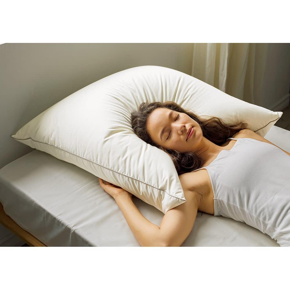 ベッド 寝具 布団 枕 抱き枕 まごころ羽毛ビッグピロー約75cm角 枕単品 526712