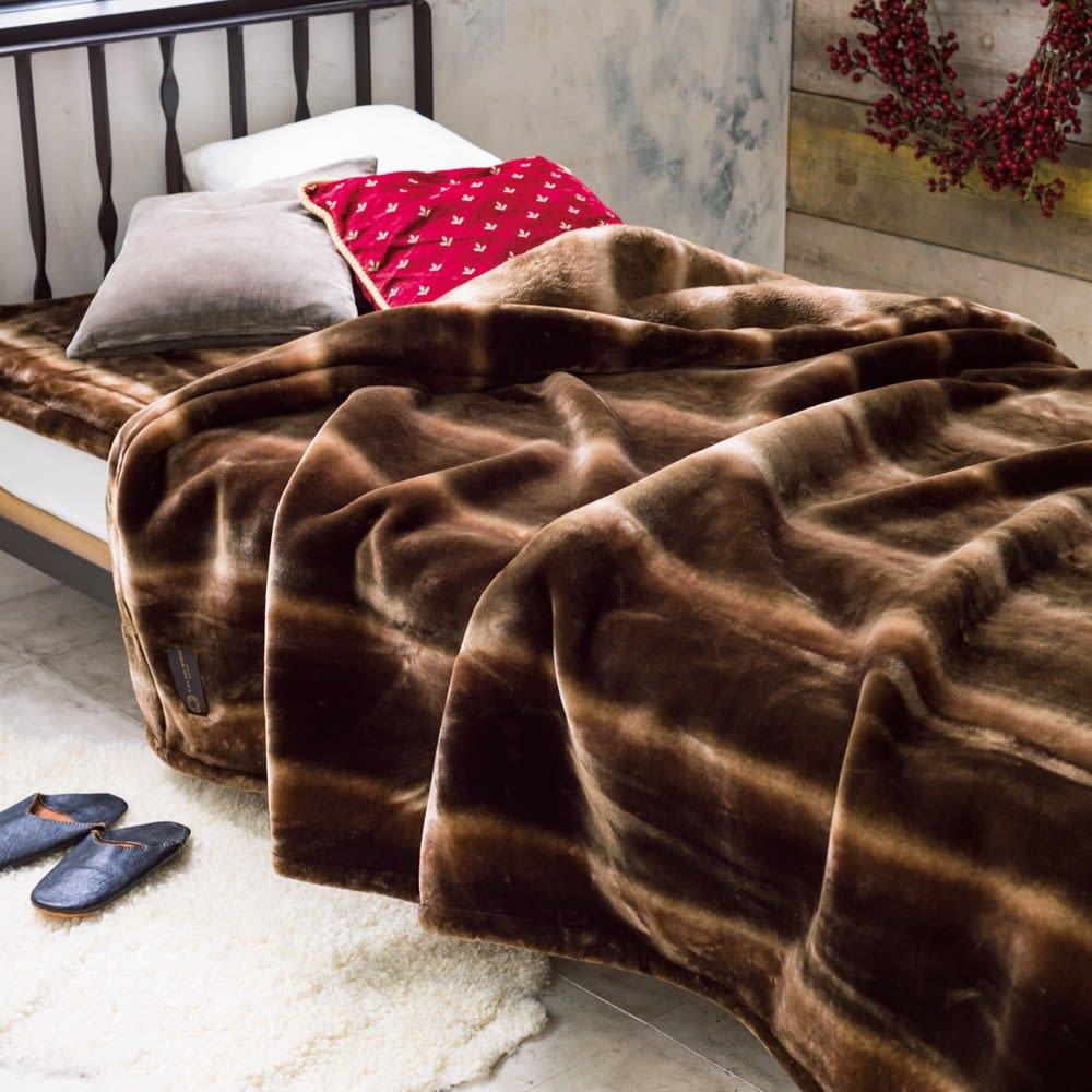 ベッド 寝具 布団 毛布 ブランケット 敷き毛布 セミダブルセット(カルドニード(R) ノッテII 毛布 お得な掛け敷きセット) 526808