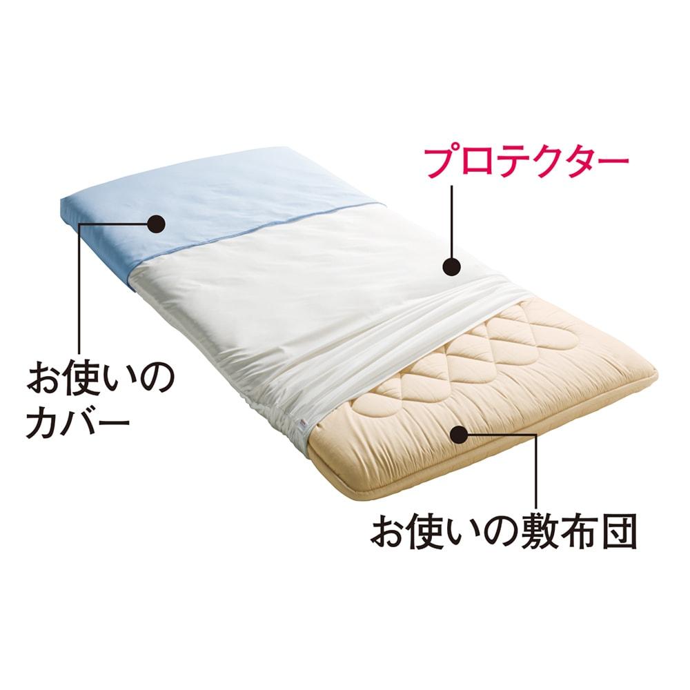 ミクロガード(R)防ダニ用寝具プロテクター 敷き布団用 上からお使いのカバー、プロテクター、お使いの敷布団。これ1枚で敷き布団をダニから守ります。