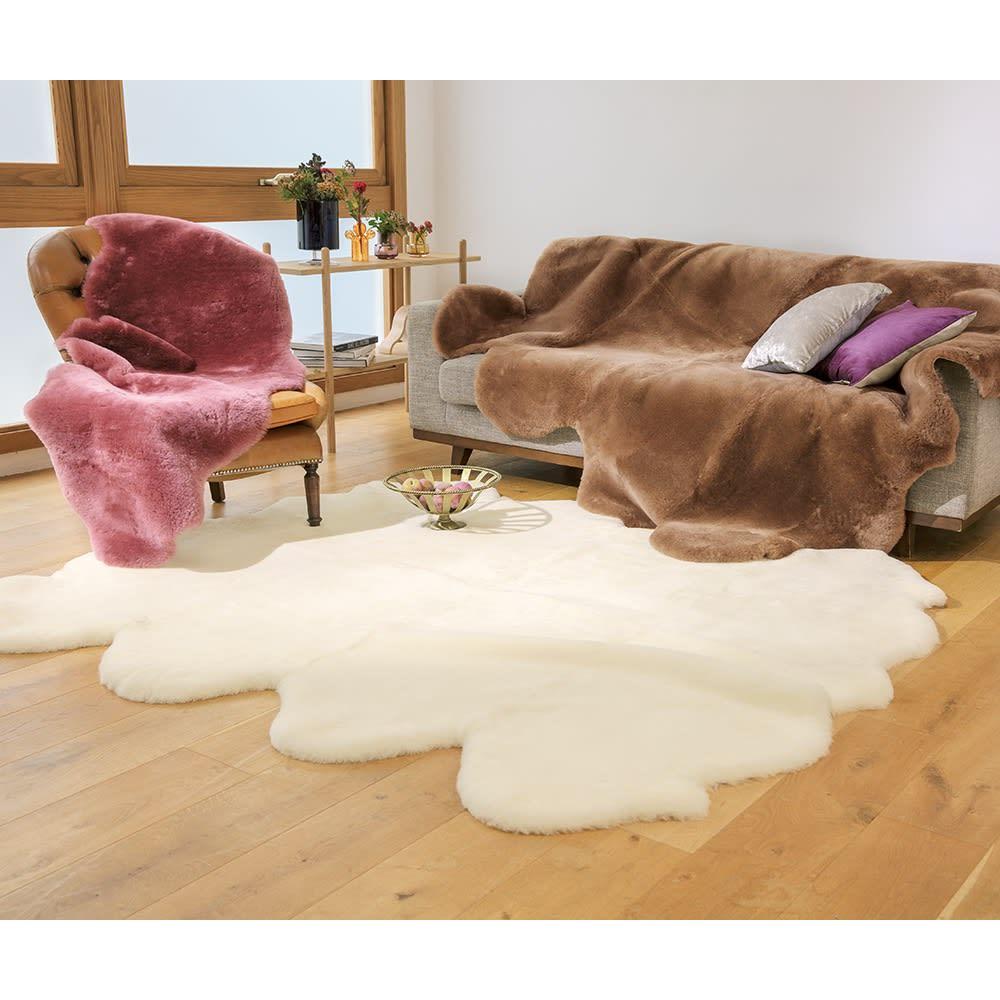カーテン 敷物 ソファカバー カーペット ラグ マット 洗えるラグ 2匹物(洗えるスプリングラム短毛ムートン 1匹物~4匹物) 528603