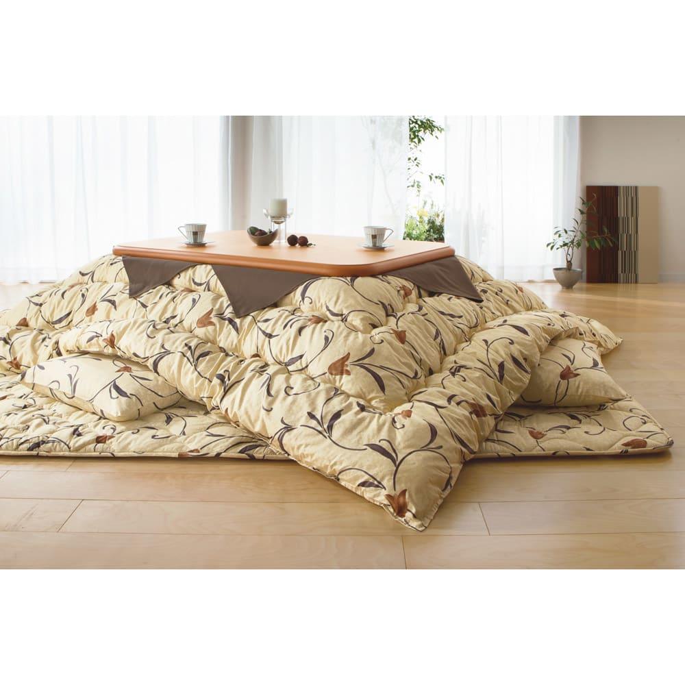 家具 収納 こたつ こたつ布団 カバー 正方形(京都西川 はっ水 ふっくらこたつシリーズ 掛け布団) 529701