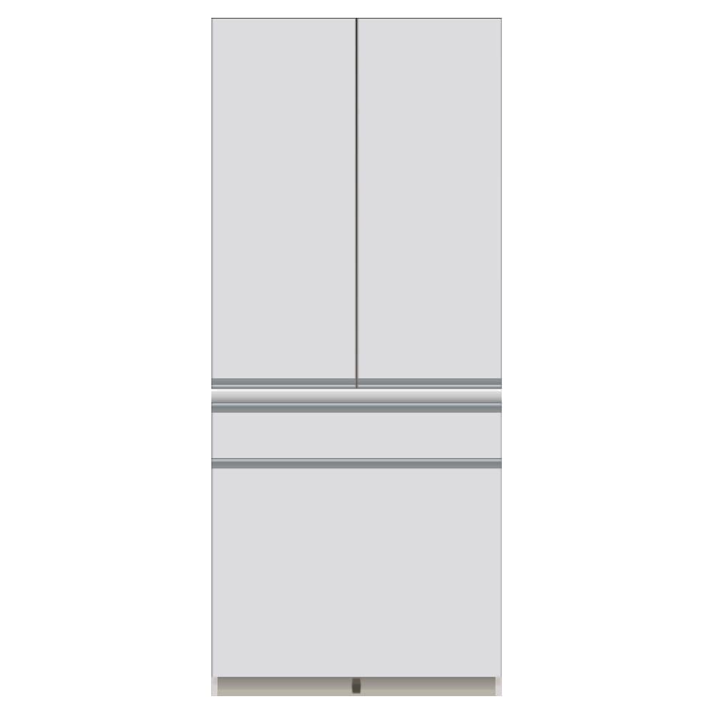 サイズが豊富な高機能シリーズ 板扉タイプ 食器棚深引き出し 幅80奥行50高さ187cm/パモウナ DZ-801K