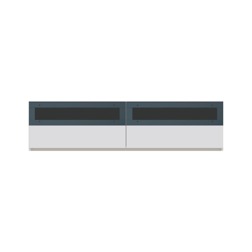 毎日の使いやすさを考えた収納システム テレビ台ロータイプ 幅180cm (ア)ホワイト