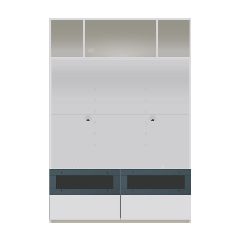 毎日の使いやすさを考えた収納システム テレビ台オープンタイプ 幅120cm (ア)ホワイト