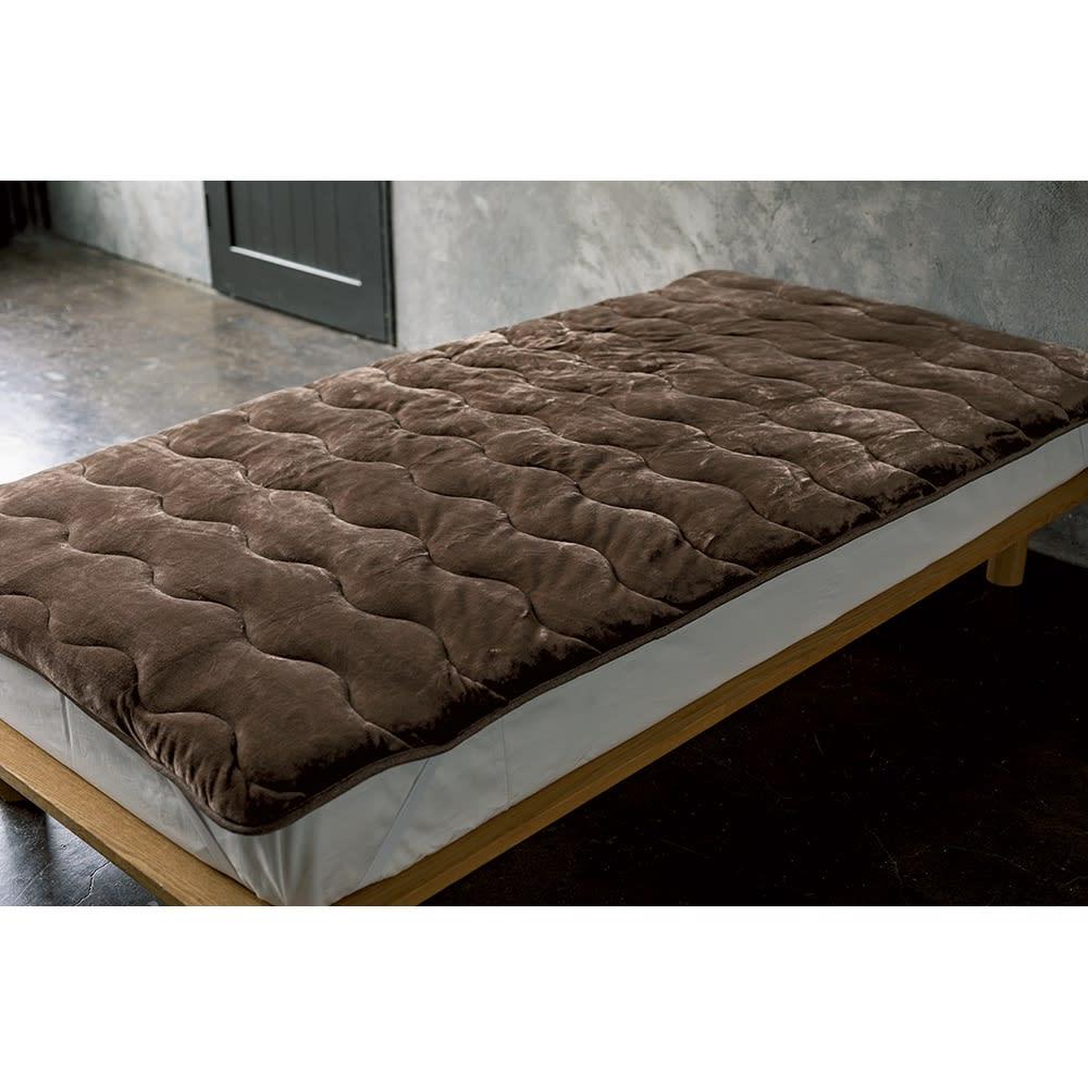 ベッド 寝具 布団 毛布 ブランケット 敷き毛布 クイーン(クレスカローレシリーズ 敷きパッド) 536108