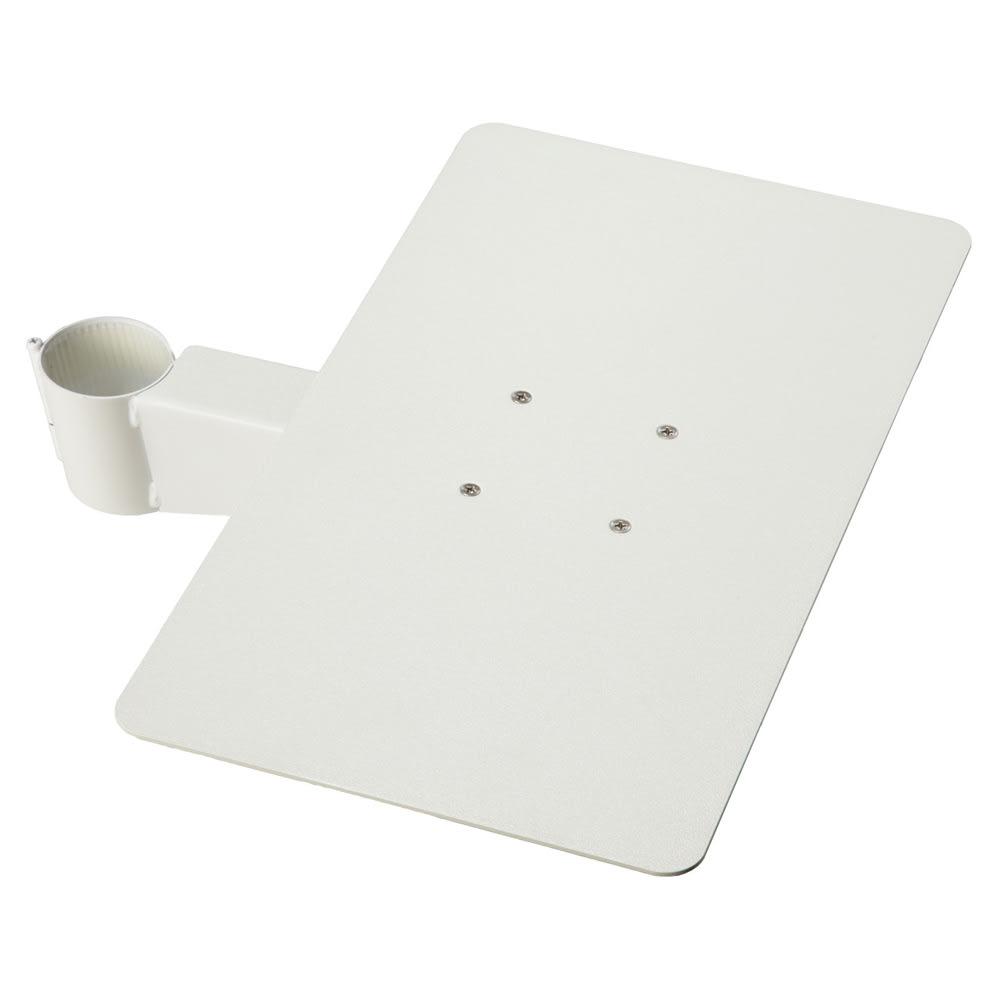 スマートテレビスタンド ラージタイプ対応棚板 デッキ用 幅40cm (ア)ホワイト