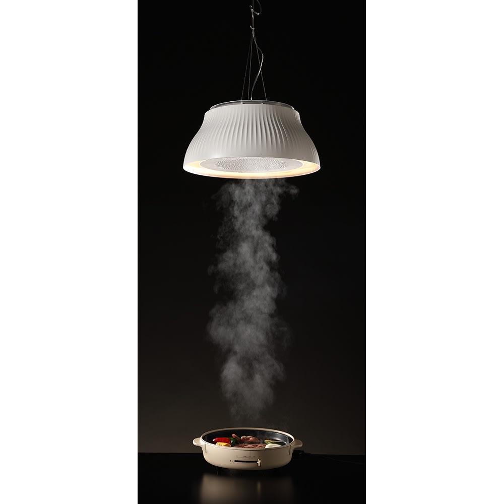 ニオイ・油・煙を吸うLEDダイニングライト クーキレイ PT(ア)ホワイト