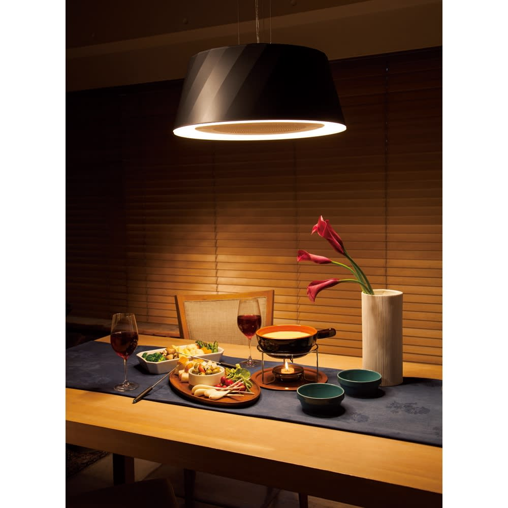 ニオイ・油・煙を吸うLEDダイニングライト クーキレイ BEシリーズ(イ)ブラック 美しいスタイルで世界的なデザイン賞を多数受賞。