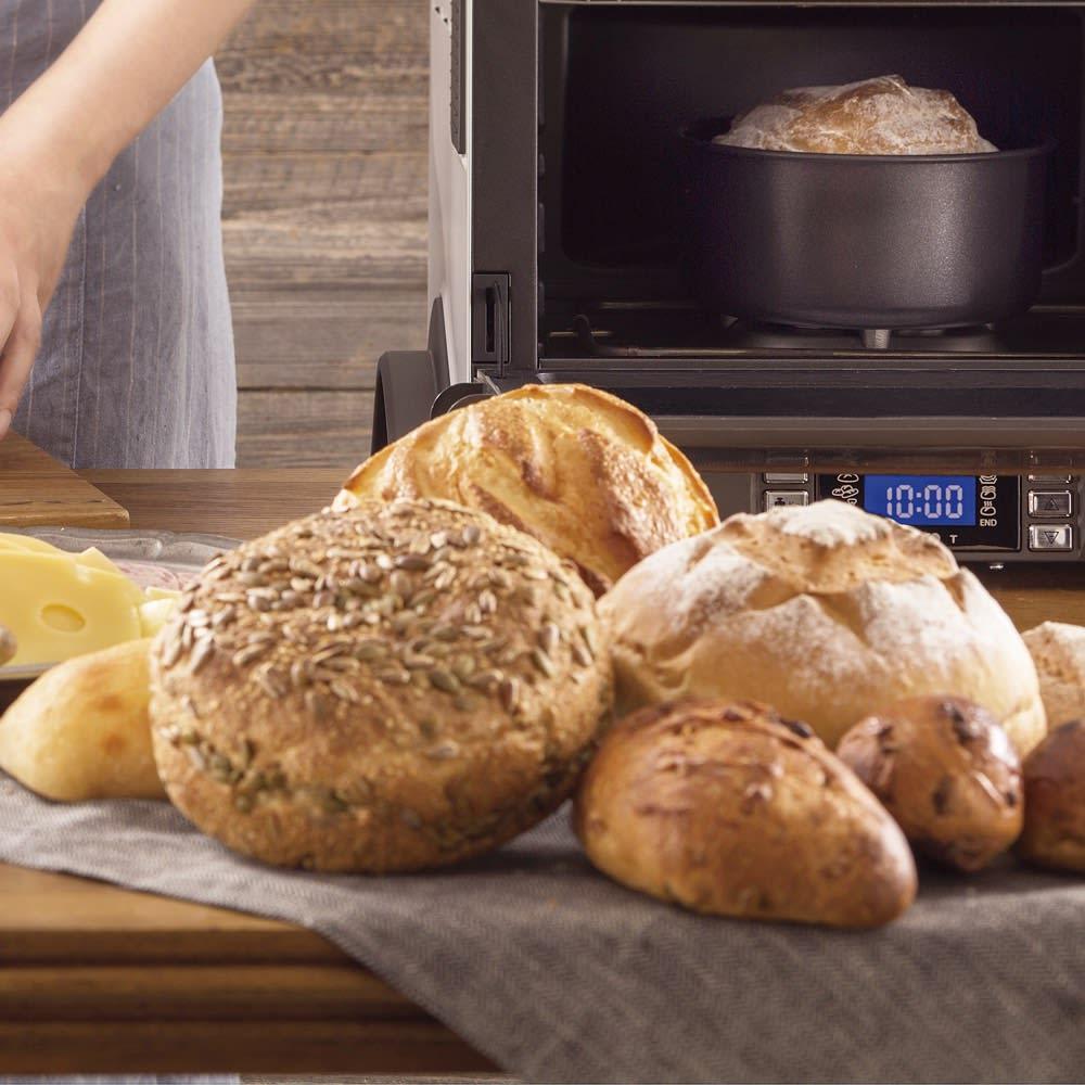 DeLonghi パングルメ ベーカリー&コンベクションオーブン [ベーカリー] セミオートモードで成形パンも自由自在。