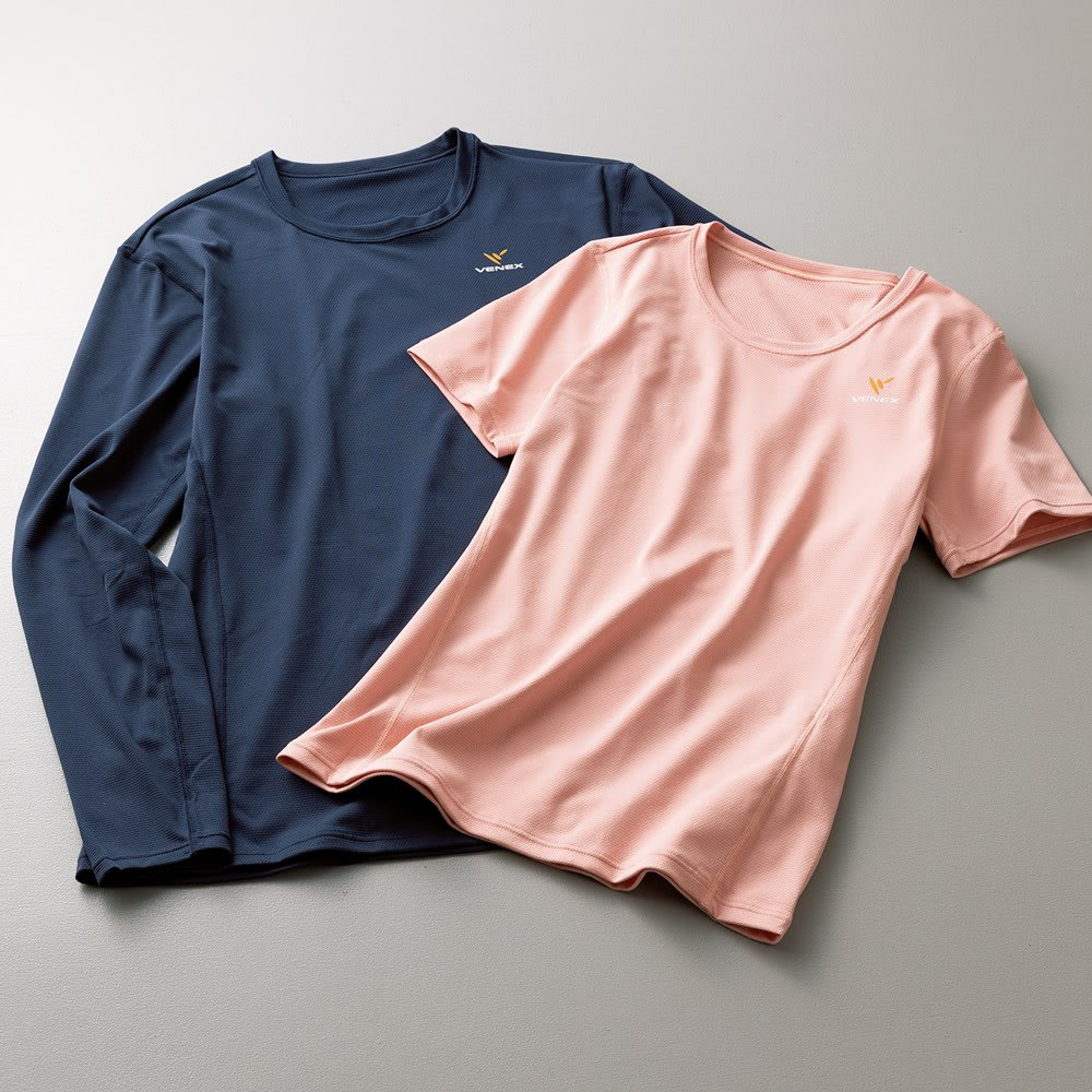 ベネクススタンダードドライシリーズ ロングスリーブ メンズ 左側:(イ)ネイビー ※お届けの商品はロングスリーブです。