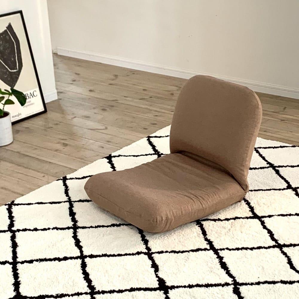 日本製背中を支えるコンパクト美姿勢座椅子 本体 (ア)ベージュ