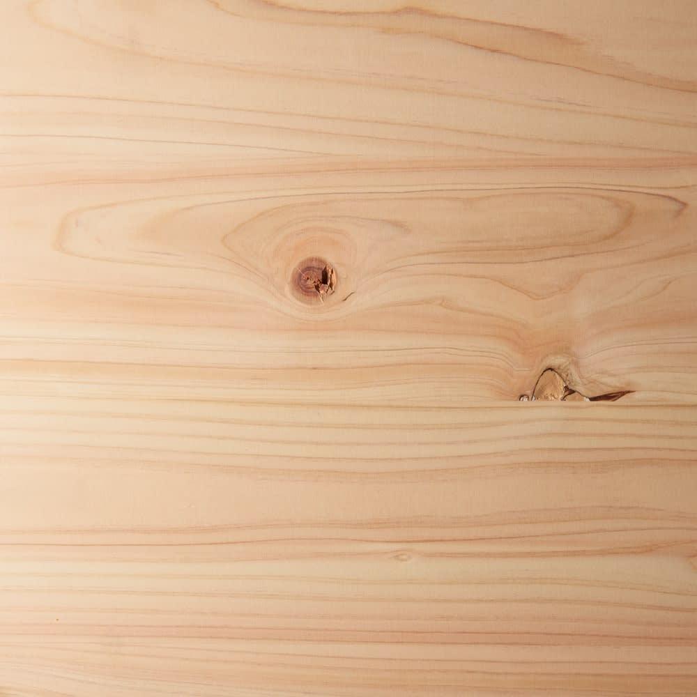 国産天然ヒノキの ネコトイレガード (サイドテーブル) 素材アップ(ア)ナチュラル