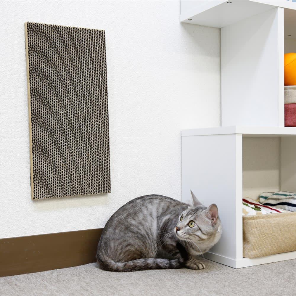 壁に貼れる猫の爪とぎシリーズ 段ボールタイプ(2枚組)