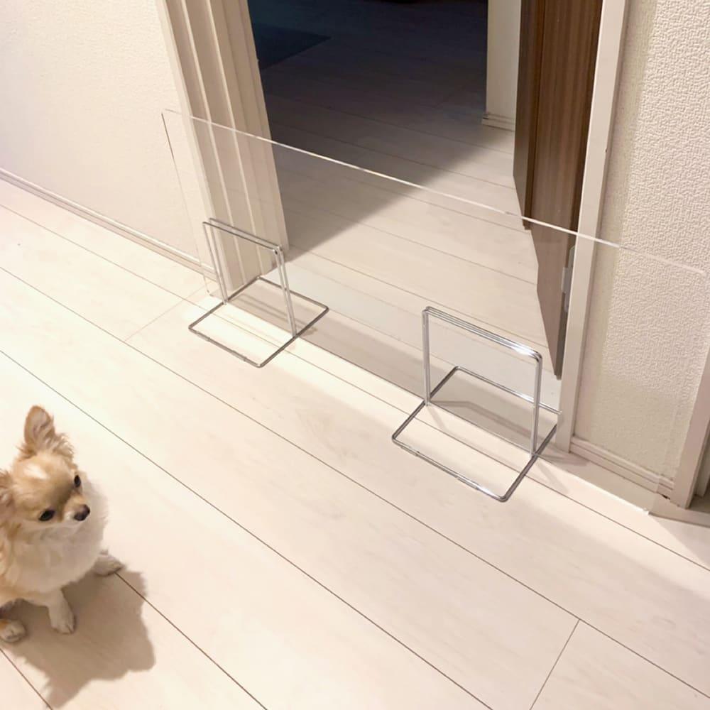 アクリル製ペットゲート 高さ50.5cm 1枚 ※高さ40.5cmを使用(こちらの商品とはサイズが異なります)