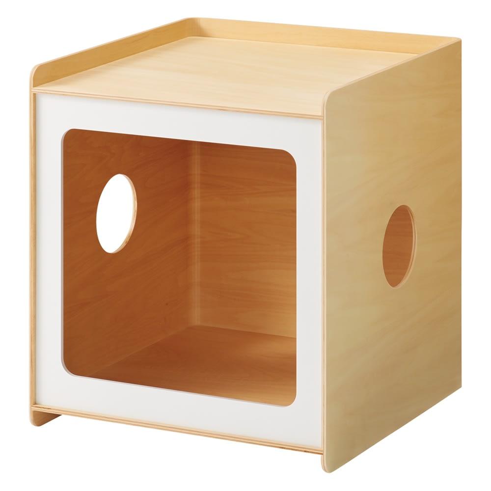 ペットと過ごす曲げ木サイドテーブル ワイド (ア)ホワイト 幅40cm奥行40cm高さ45cm