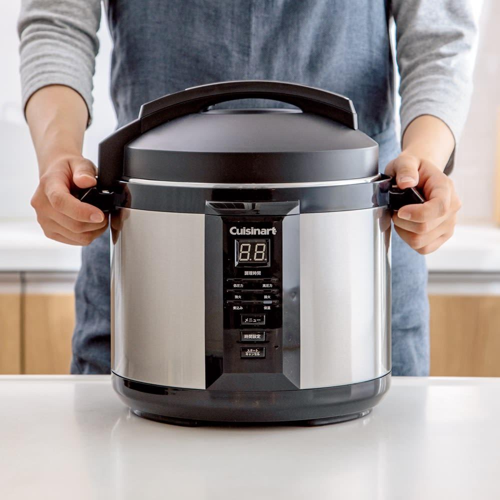 【特典レシピブック付き】 炒められる!ほったらかし調理!Cuisinart クイジナート電気圧力なべ4L 大容量4Lサイズ。