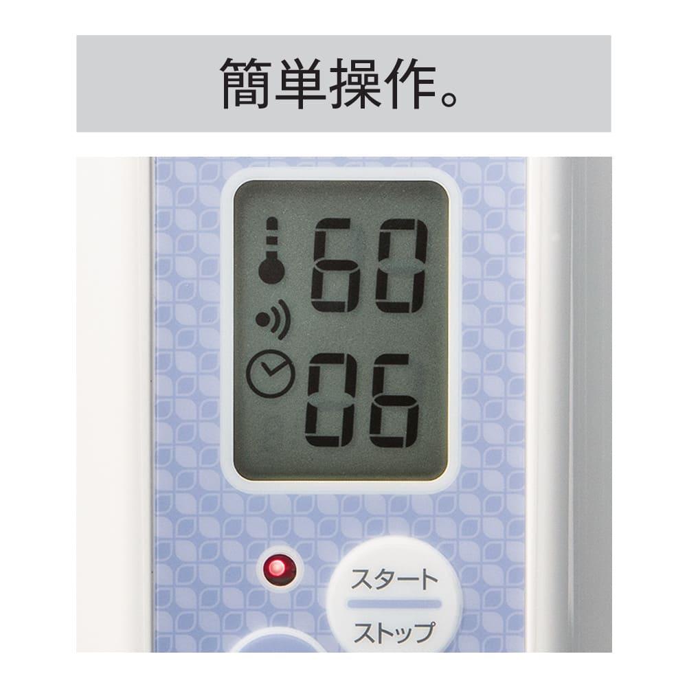 ヨーグルティアS 基本セット 明るい画面と大きな文字で、温度と時間が一目瞭然。設定も指で押すだけでOK。