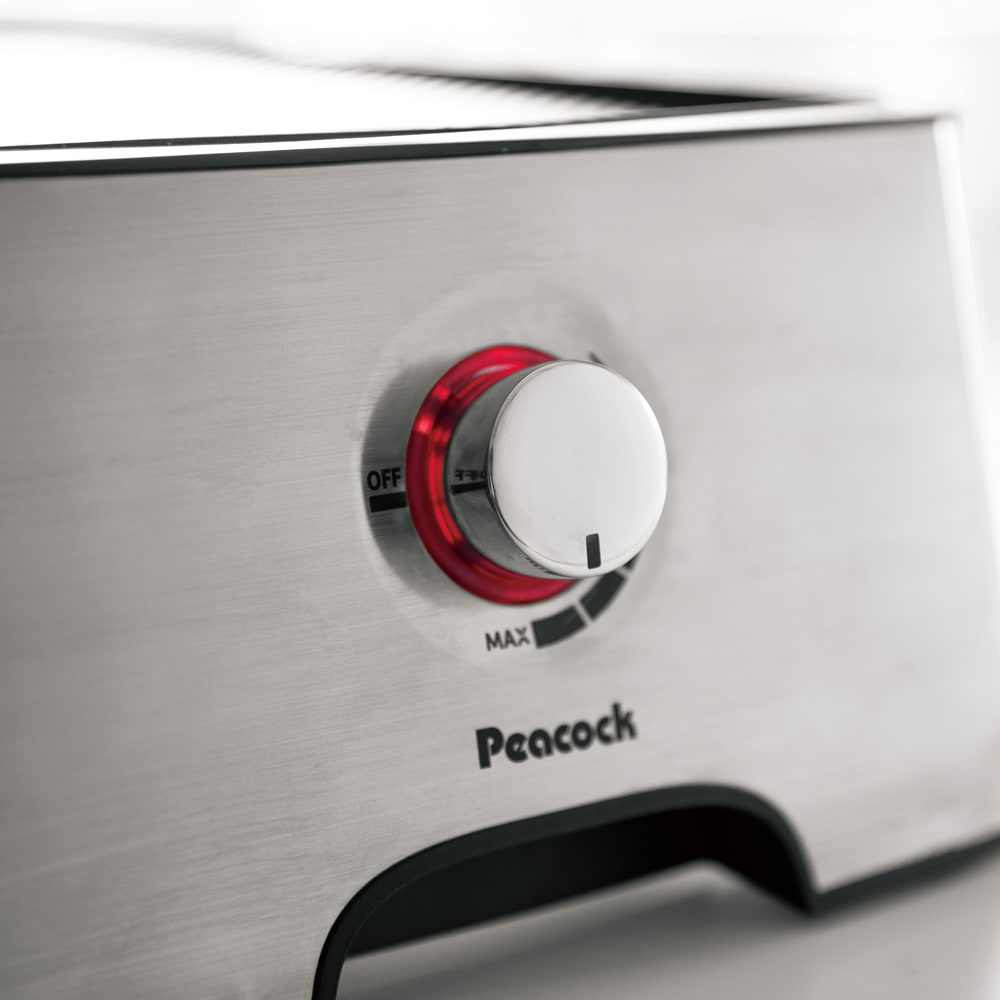 ホームパーティーグリル WEB限定 先着200名様 レビューを書いて特典付き (2)[温度調節ダイヤル]をMAXに合わせ予熱をはじめる。