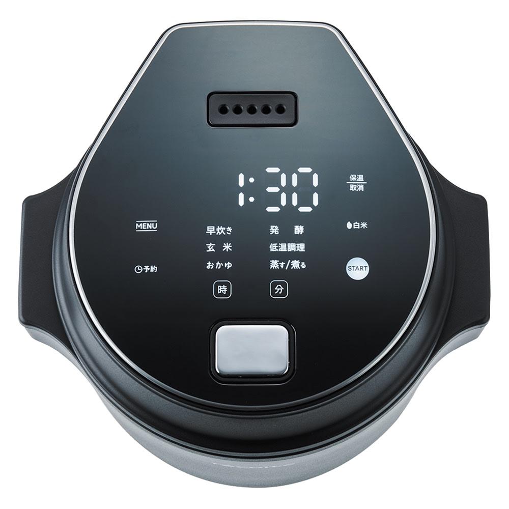 recolte 低温調理もできるコンパクトライスクッカー (イ)ブラック