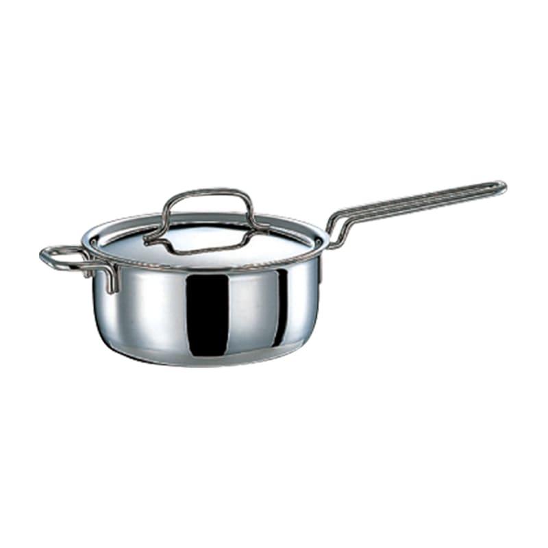 【特典2点付き】IH対応 服部先生のステンレス7層構造鍋「ジオ」 基本3点セット 片手鍋片手鍋