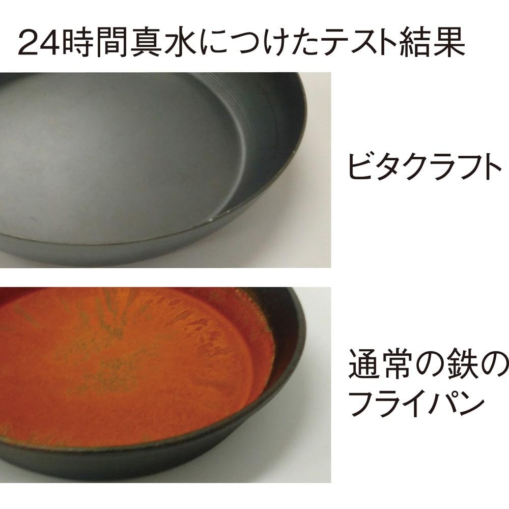vitacraft/ビタクラフト スーパー鉄 フライパン 径26cm 錆びにくい! 鉄の内部まで層を作る窒化4層加工で弱点を解消。