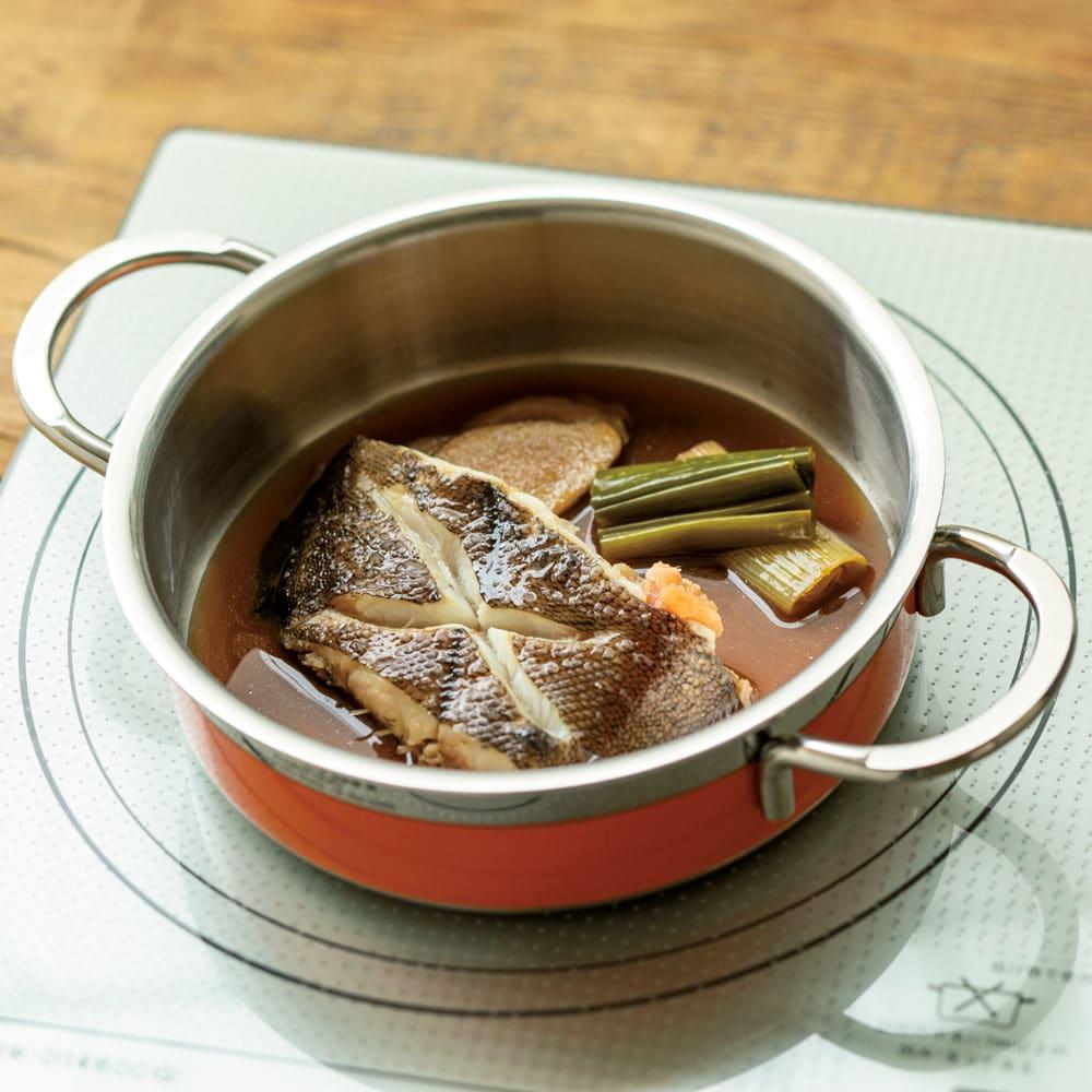 vitacraft/ビタクラフト コロラド4点セット 片手鍋+両手鍋(浅型)+両手鍋(深型)+パンチングザル 煮る 余熱料理で、煮物もおいしく。しっかり味がしみ込みます。