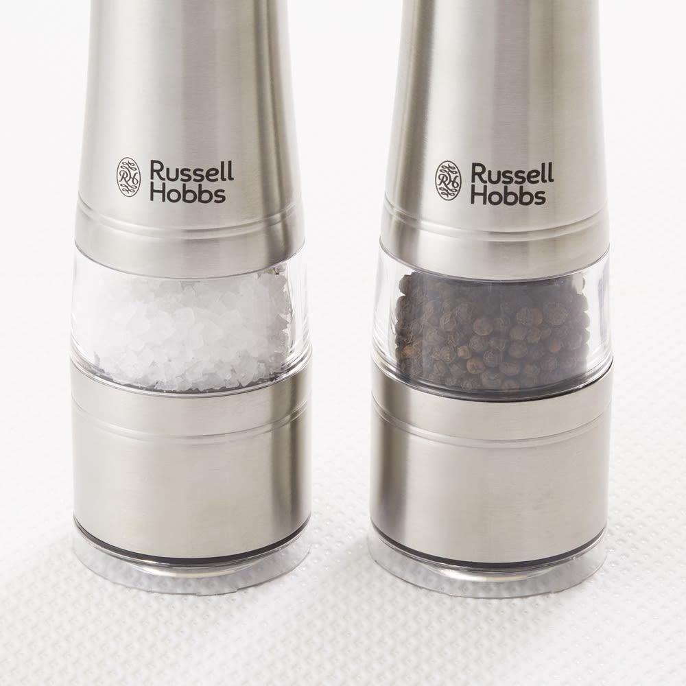 Russell Hobbs/ラッセルホブス 電動ミルソルト&ペッパー お得な2本セット