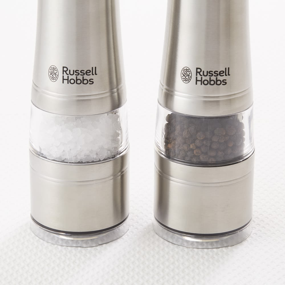 Russell Hobbs/ラッセルホブス 電動ミルソルト&ペッパー 1本 胡椒も塩もOK!