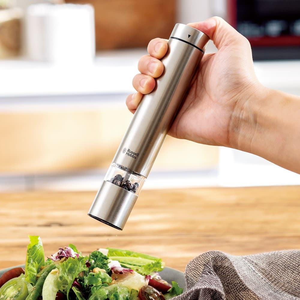 Russell Hobbs/ラッセルホブス 電動ミル ソルト&ペッパー ミニ (ア)シルバー 食卓には小型タイプを。