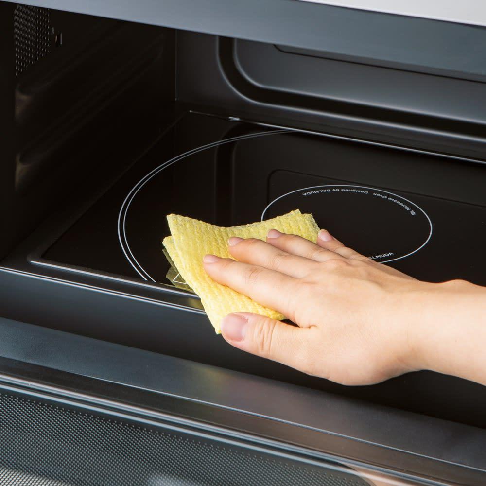 頑固な汚れもよく落ちる!使い捨て・抗菌加工クリーニングタオル3本組 レンジ庫内の汚れに。