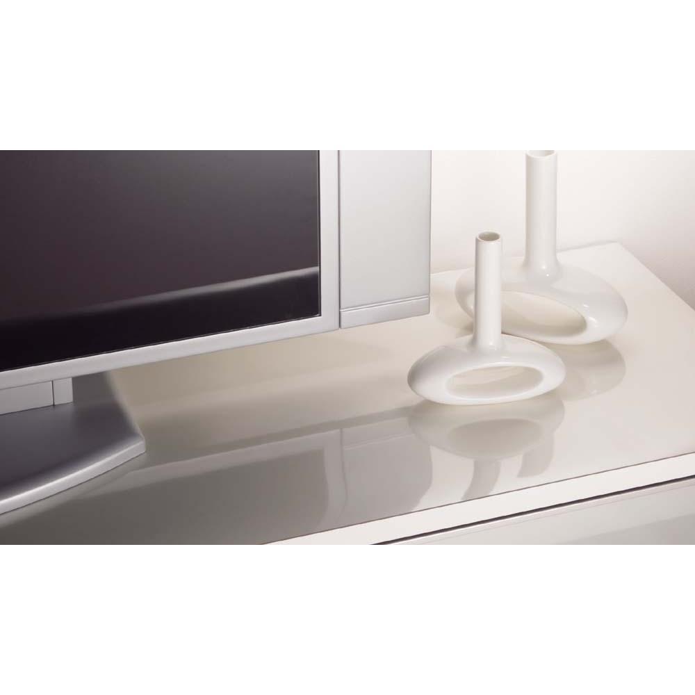 アキレス 高機能テーブルマット 幅120cm(オーダーカット) テレビボードのクッションカバーとして 重い液晶テレビなどを置くとキズがつきそう。そんなときにもボードの表面をしっかり保護。