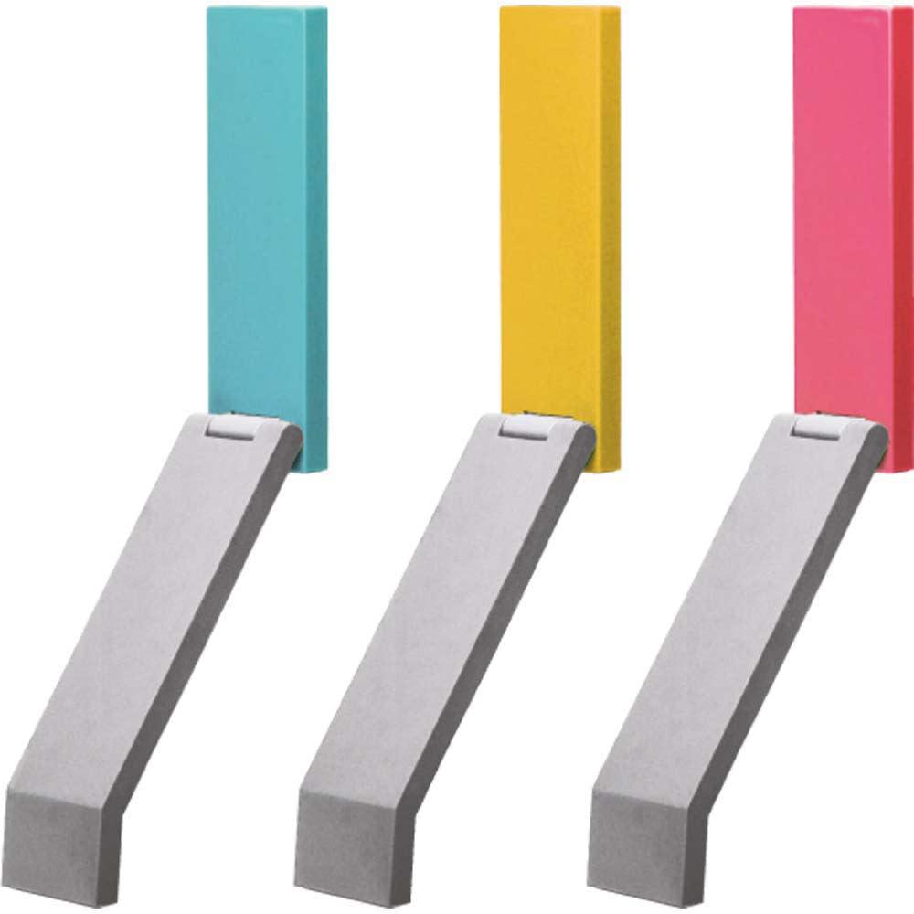 tidy/ティディ ドアストップ[日本製] 左から、ライトブルー、イエロー、ピンク