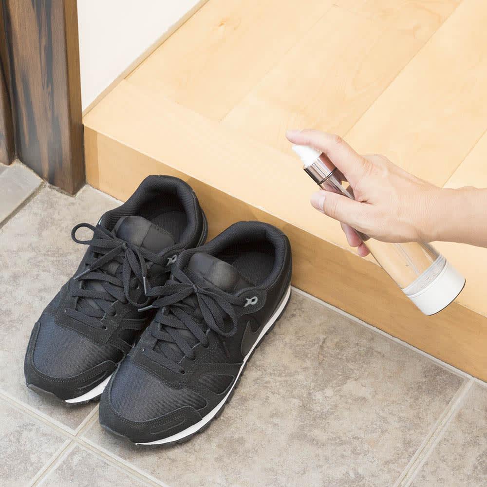 自宅で簡単・除菌・消臭剤「ジア ポケット」 気になる靴にさっとスプレー
