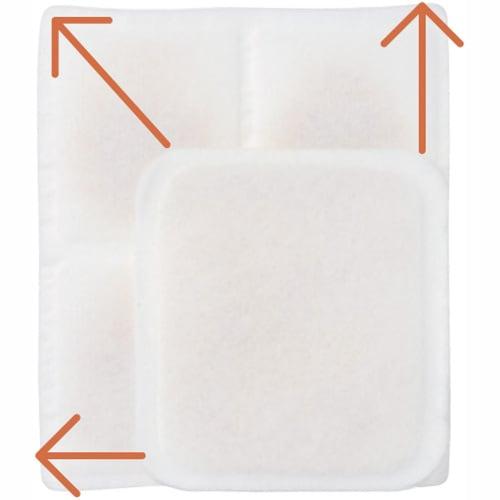日革研究所 「ダニ捕りロボ」 詰め替え誘引マット ラージサイズ 5枚セット ラージサイズはレギュラーサイズに比べ床面積が2倍! カーペットなどの広い範囲におススメです。
