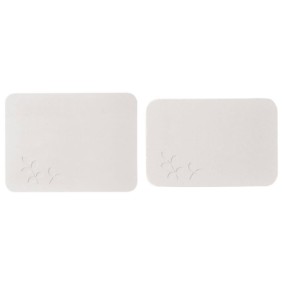 soleau 吸水・速乾・消臭バスマット&スノコ お得な2点セット (ク)リーフ ※色は左の商品色をご参照ください。