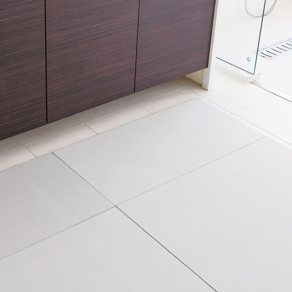 幅71・76cm/奥行66cm (soleau/ソレウ 吸水・速乾・消臭バスマット&ひのきスノコセット サイズオーダー) 洗面所のサイズに合わせてすき間なく敷き詰めることも可能です。
