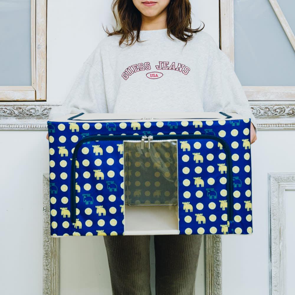moz 衣類ケース 柄を選べる2個組 クローゼット内はもちろん、お部屋の収納としてもご使用いただけるサイズ感です。
