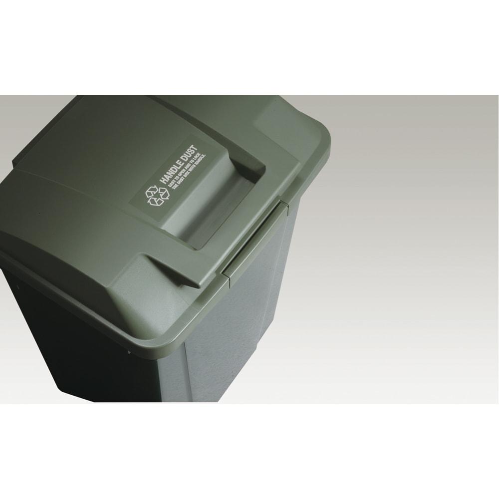 ハンドル付きダストボックス 同色2個組 ◎一体型ハンドル。 ◎安心のロック付き。 ◎ゴミ袋留め付き。