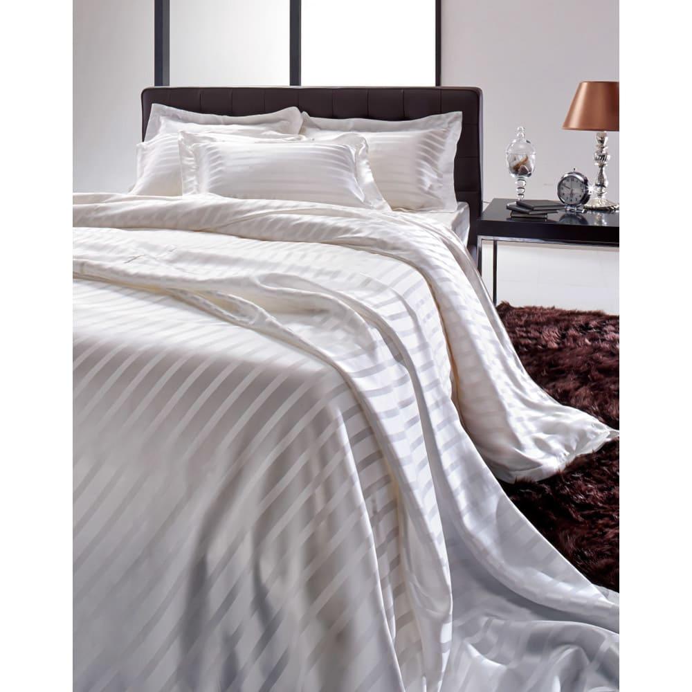 オールシルクシリーズ サテン織り掛け布団カバー Silk Covering シルクの心地よさに全身が包まれる幸福感。オールシルクでセレブリティな寝室に。