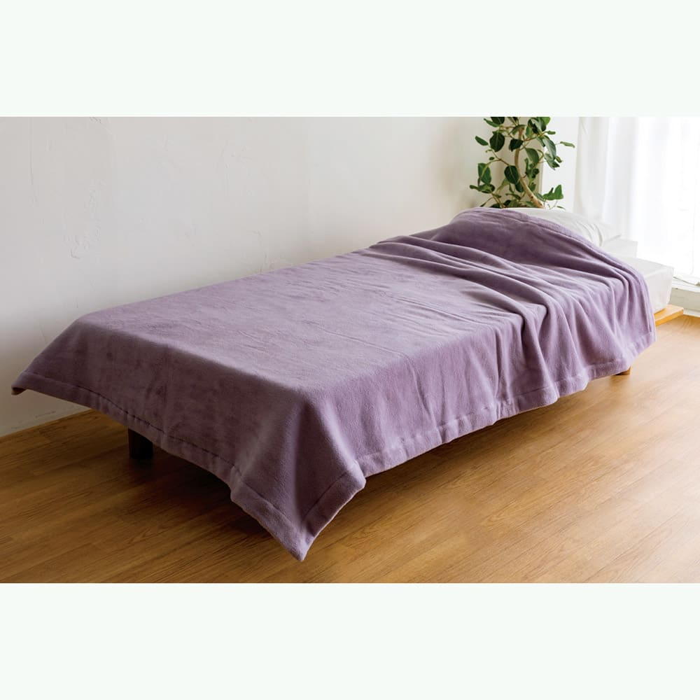 【毛布の老舗 三井毛織】エジプト超長綿やわらか綿毛布 掛け毛布 (エ)グレイッシュパープル