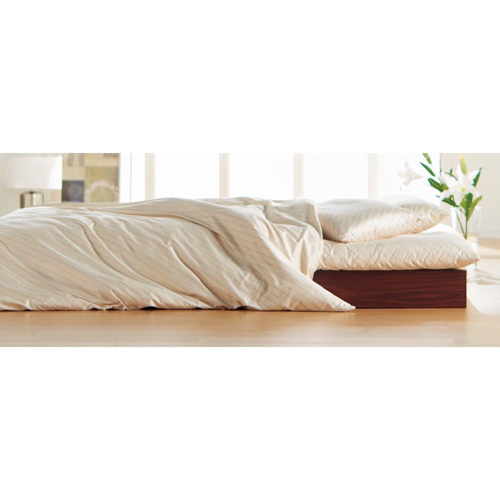 綿生地 ベッドのダニ対策 ダニゼロック ベッドパッド (イ)ベージュ