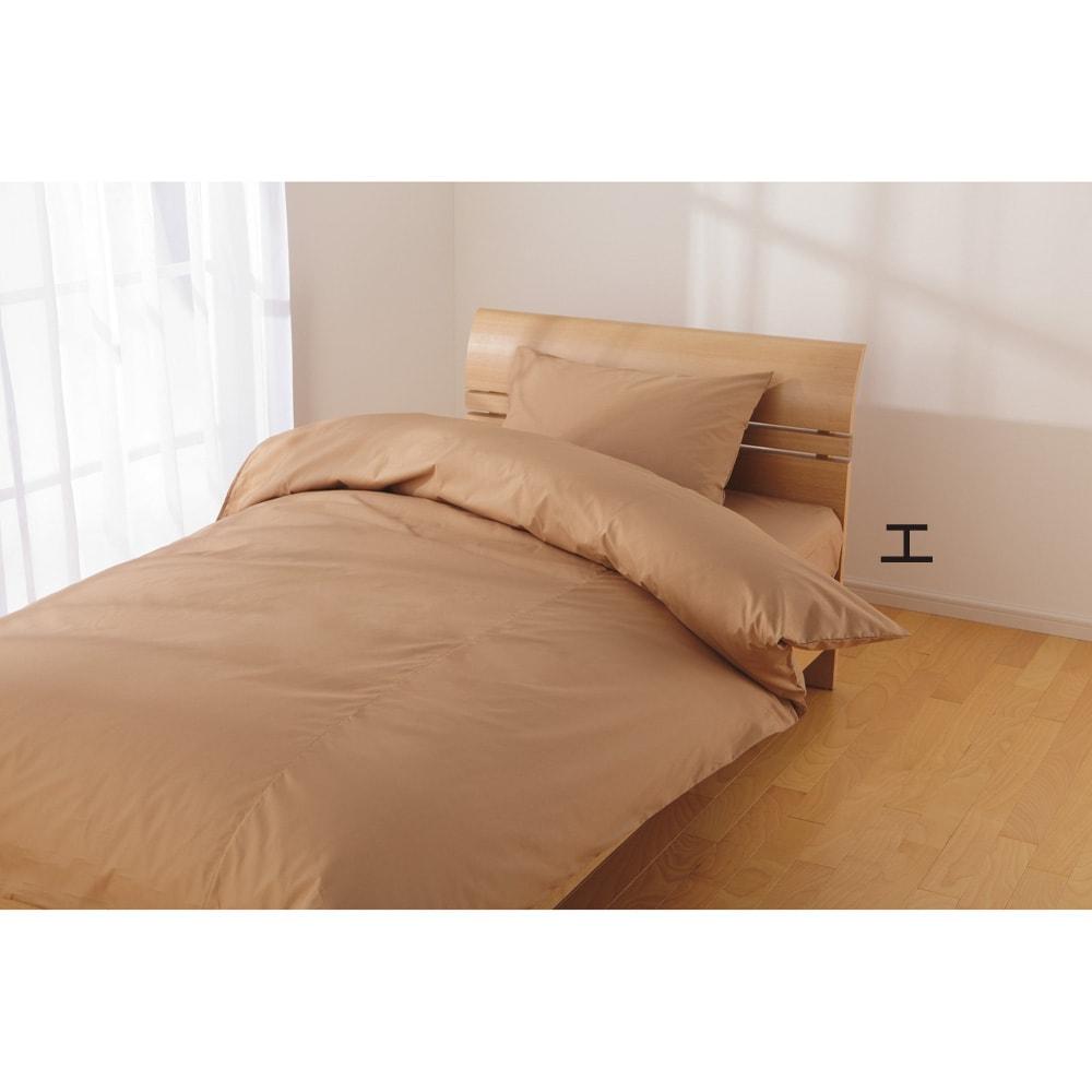 2段ベッド用3点 (綿100%のダニゼロック シーツ&カバーセット) (エ)ベージュ ※写真はベッド用セットになります。