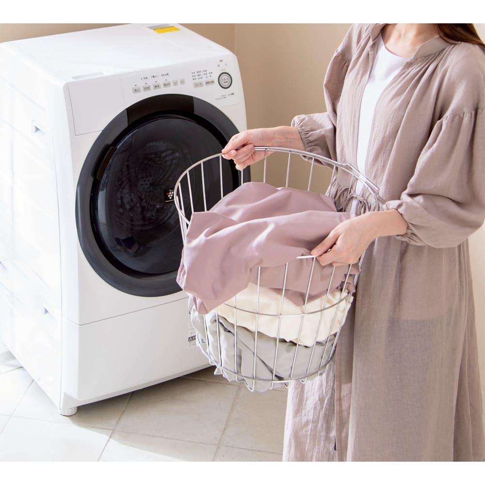 乾燥機OK!倍速速乾リコットンシーツ&カバーシリーズ 掛け布団カバー (写真はシングルロング)タンブラー乾燥機も使用OK!