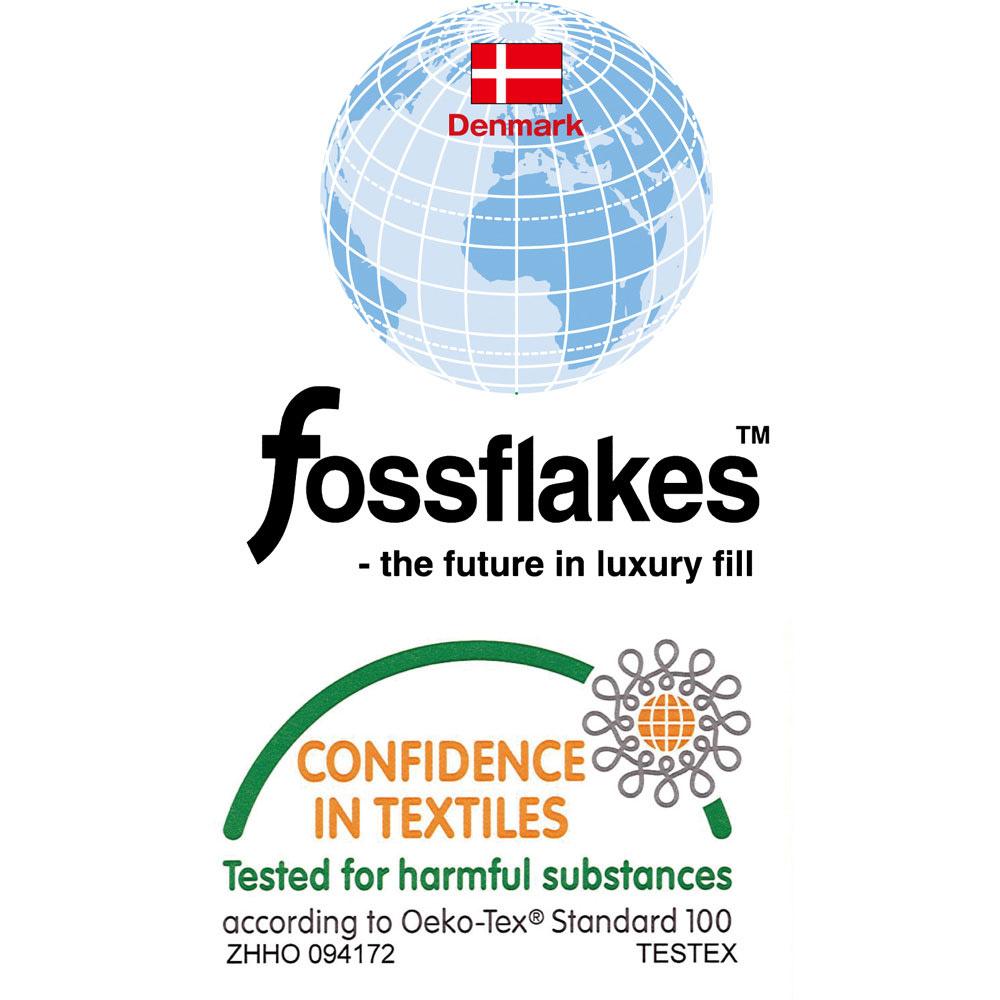 デンマーク製フォスフレイクス安眠枕と綿100%カバー